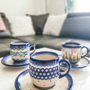 Polish Pottery Ceramika Galia Espresso Cups