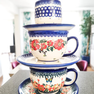 Polish Pottery Ceramika Galia Cups