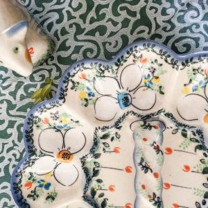 Polish Pottery Ceramika Galia Egg Plate