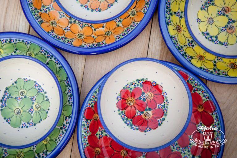 Ceramika bolesławiecka Galia kwiaty
