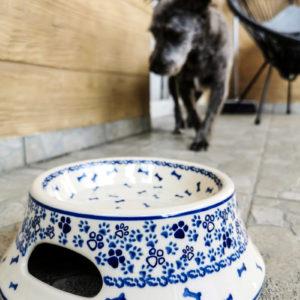 Polish Pottery Ceramika Galia Dog Bowls